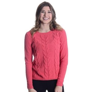 J. Crew Cable Knit Scoop Neck Sweater